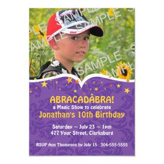 Abracadabra Magic Show Birthday Party 13 Cm X 18 Cm Invitation Card
