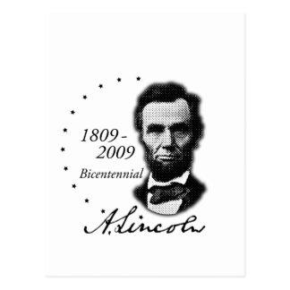 Abraham (Abe) Lincoln Bicentennial Postcard