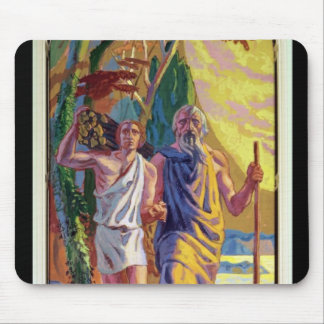 Abraham going to offer Isaac his son Mousepads