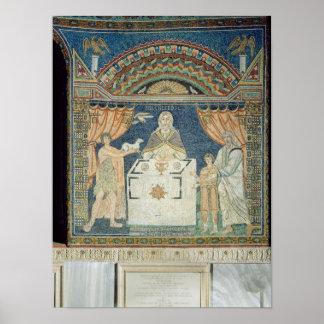Abraham, Isaac and Melchisedech Poster