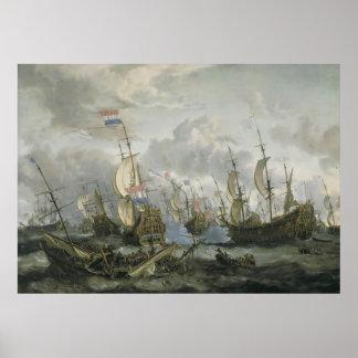 Abraham Jansz Storck Four Days Battle Poster