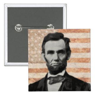 Abraham Lincoln 15 Cm Square Badge
