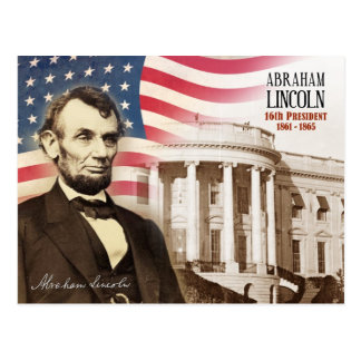 Abraham Lincoln - 16th President of the U.S. Postcard