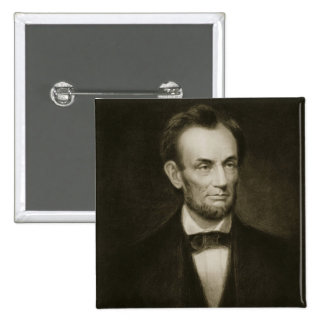 Abraham Lincoln, 16th President of the United Stat 15 Cm Square Badge