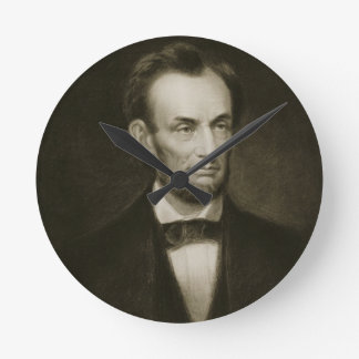 Abraham Lincoln, 16th President of the United Stat Round Clocks