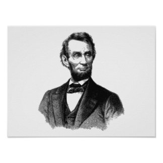 "Abraham Lincoln 1865 ""The great emancipator"" Poster"