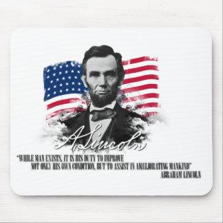 Abraham Lincoln Ameliorating Mankind Mousepad