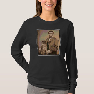 """Abraham Lincoln and """"Dixie"""" his cat T-Shirt"""