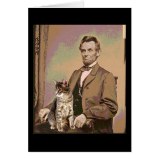 Abraham Lincoln and his Cat Dixie Card