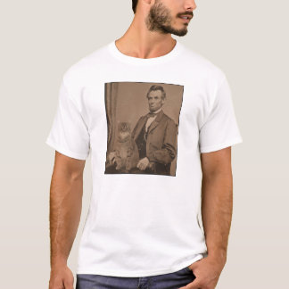 """Abraham Lincoln and his cat """"Gloria"""" T-Shirt"""