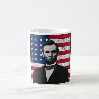 Abraham Lincoln and The American Flag Coffee Mug