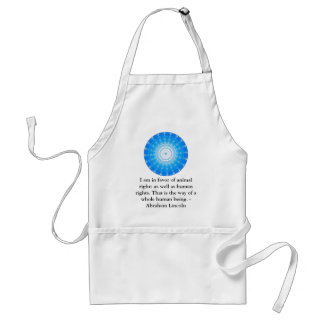 Abraham Lincoln  Animal Rights Quote Standard Apron