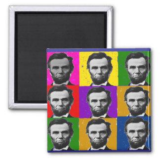 Abraham Lincoln Art Gifts---Unique 9 Photos Square Magnet