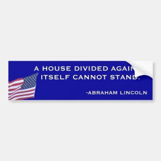 Abraham Lincoln Bumper Sticker Car Bumper Sticker