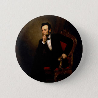 Abraham Lincoln by George Peter Alexander Healy 6 Cm Round Badge