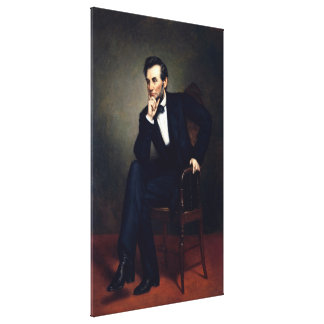 ABRAHAM LINCOLN by George Peter Alexander Healy Gallery Wrapped Canvas