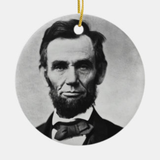 Abraham Lincoln Ceramic Ornament