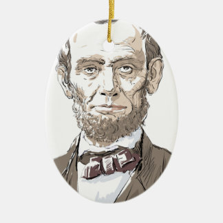 Abraham Lincoln Ceramic Oval Decoration
