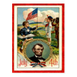 Abraham Lincoln Children Vintage 4th of July Postcards