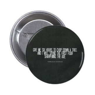 Abraham Lincoln chop down a tree quote Pin