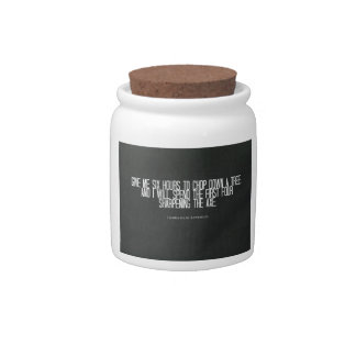 "Abraham Lincoln ""chop down a tree"" quote Candy Jars"