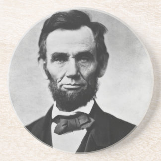 Abraham Lincoln Beverage Coasters