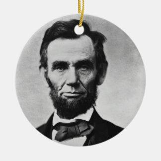 Abraham Lincoln Round Ceramic Decoration