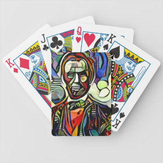 Abraham Lincoln digital colourful painting Bicycle Playing Cards