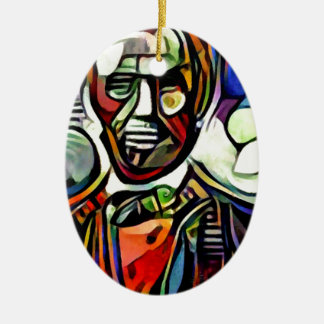 Abraham Lincoln digital colourful painting Ceramic Ornament