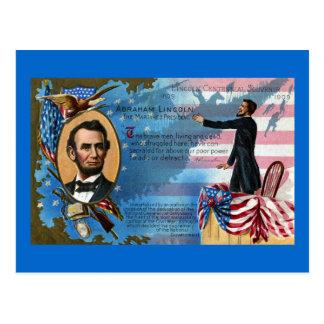 Abraham Lincoln Giving Gettysburg Address Postcard