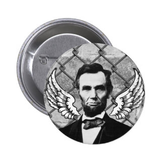 Abraham Lincoln Has Wings Pinback Buttons