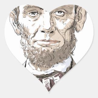 Abraham Lincoln Heart Sticker