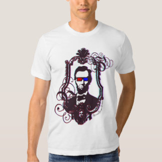 Abraham Lincoln in 3D Glasses T Shirt