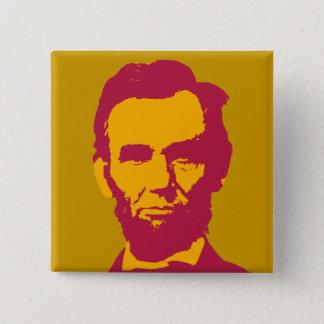 Abraham Lincoln in Orange & Red 15 Cm Square Badge