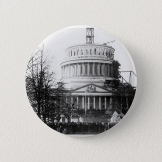 Abraham Lincoln, Inaugural Address, March 4, 1861 6 Cm Round Badge
