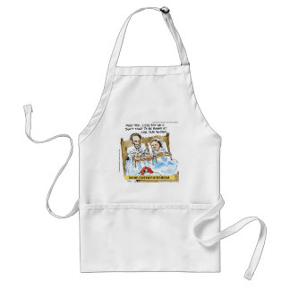 Abraham Lincoln & Mary Todd Breakfast In Bed Standard Apron
