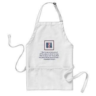Abraham Lincoln National Pride Quote Adult Apron