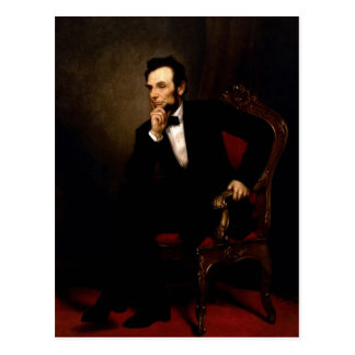 Abraham Lincoln Official White House Portrait Postcard