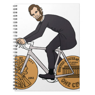 Abraham Lincoln On A Bike With Penny Wheels Bottle Notebooks