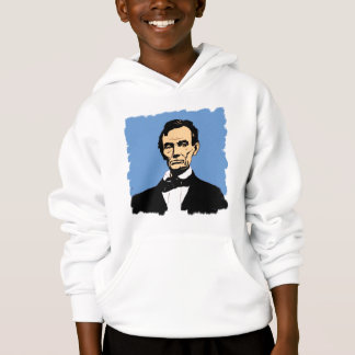 Abraham Lincoln on Blue Background