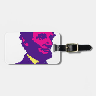 Abraham Lincoln Pixelated Luggage Tag
