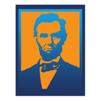 Abraham Lincoln Pop Art Postcard