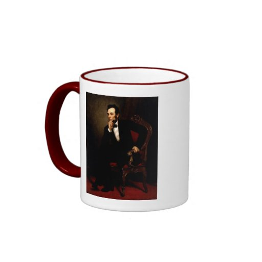 Abraham Lincoln Portrait and Constitution Quote Mugs