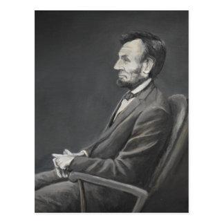 Abraham Lincoln Portrait Art Postcard