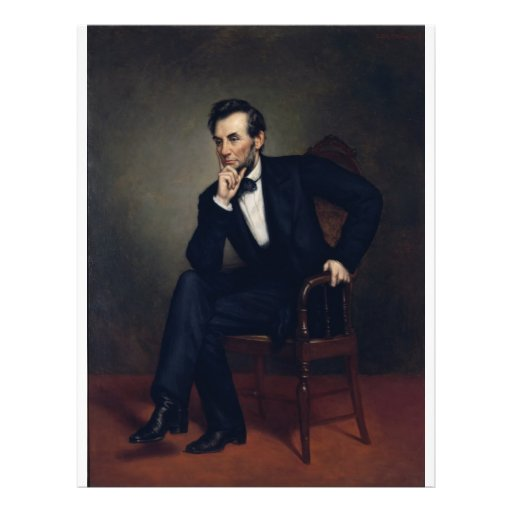 Abraham Lincoln Portrait by George Healy Full Color Flyer