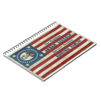 Abraham Lincoln Presidency Campaign Banner Flag Spiral Note Books