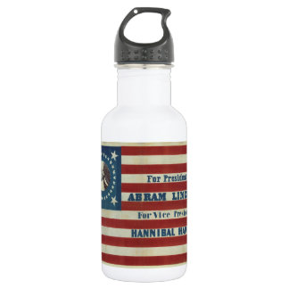 Abraham Lincoln Presidency Campaign Banner Flag 532 Ml Water Bottle