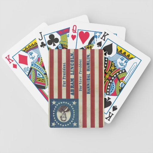 Abraham Lincoln Presidency Campaign Banner Flag Bicycle Card Deck
