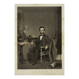 Abraham Lincoln - President of the United States Print