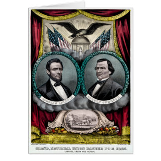 Abraham Lincoln Presidential Campaign 1864 Greeting Card